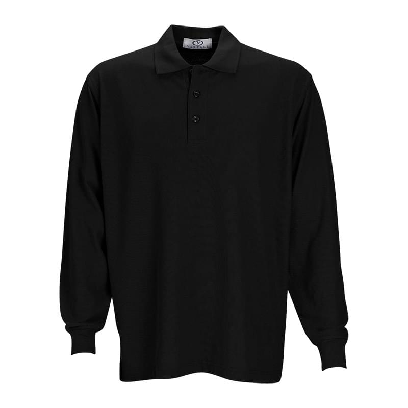 Long Sleeve Soft-Blend Pique Polo