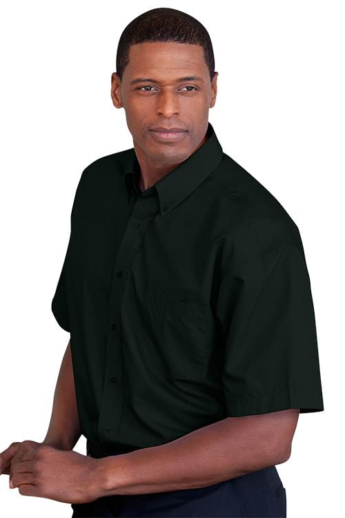 Blended Poplin Short Sleeve Shirt