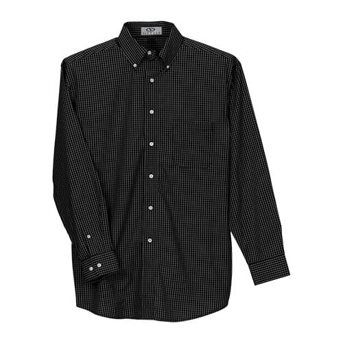 Easy-Care Poplin Box Plaid Shirt