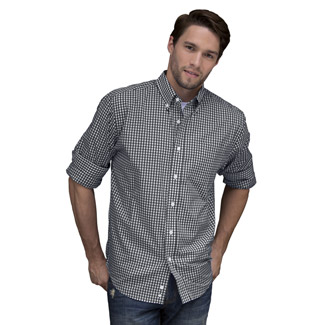 Easy-Care Gingham Check Shirt