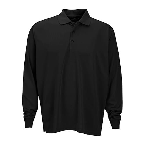Vansport™ Omega Long Sleeve Solid Mesh Tech Polo
